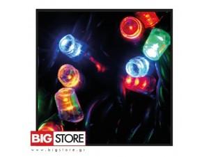 100 LED Πολύχρωμα λαμπάκια με 8 προγράμματα ΠΠ 8585