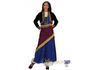 Παραδοσιακή Στολή Πόντια Μπλε Ριγέ
