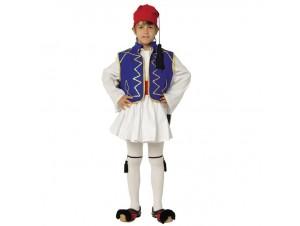 Παιδική Παραδοσιακή Στολή Τσολιάς Μπλε Παρέλασης 16