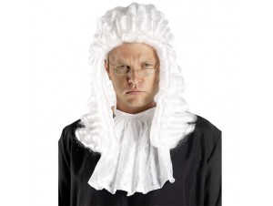 Αποκριάτικο αξεσουάρ Περούκα Δικαστή Λευκή