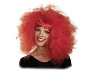 Αποκριάτικη Περούκα Lollipop αφέλειες Κόκκινη