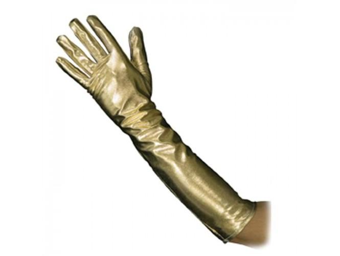 Αποκριάτικα μακριά χρυσά γάντια