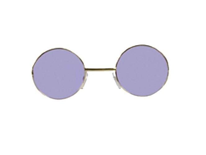 Μωβ στρογγυλά γυαλιά