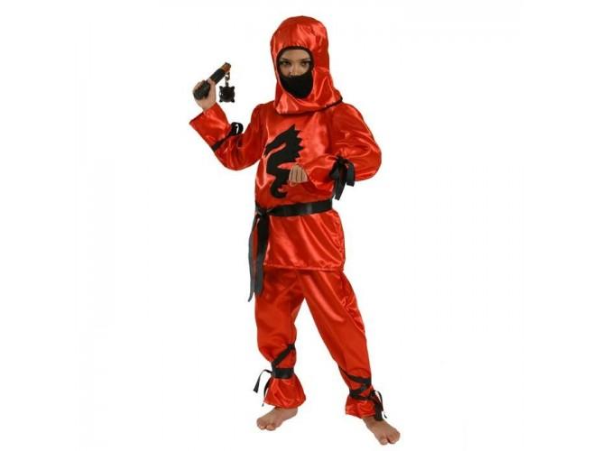 Αποκριάτικη στολή Αγόρι Νίντζα Κόκκινος Δράκος