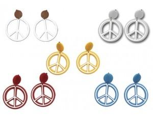 Χρωματιστά Σκουλαρίκια Peace