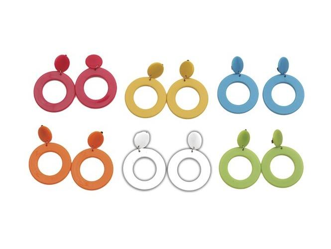 Αποκριάτικα Μοντέρνα χρωματιστά Σκουλαρίκια
