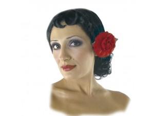 Αποκριάτικη Περούκα Σπανιόλα με Λουλούδι