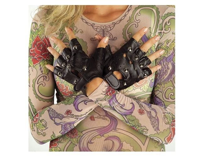Δερμάτινα γάντια με καψούλια