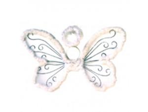 Αποκριάτικα λευκά φτερά πεταλούδας