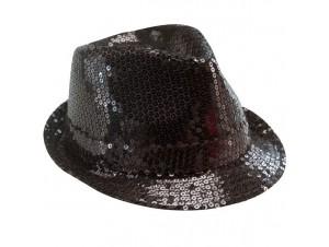 Αποκριάτικο καπέλο με πούλιες μαύρο