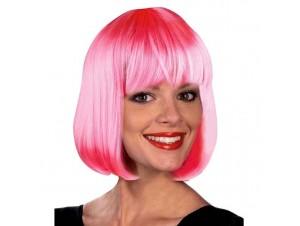 Αποκριάτικη Περούκα Σεσίλια Ροζ
