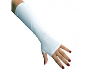 Αποκριάτικα μακριά ανοιχτά λευκά γάντια
