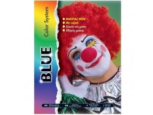 Αποκριάτικo μακιγιάζ Μπλε βάση