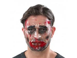 Αποκριάτικη μάσκα Διάφανη με αίμα
