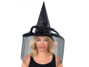 Αποκριάτικο καπέλο Μάγισσας με τού