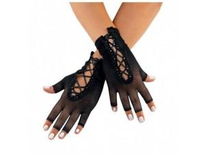 Αποκριάτικα κοντά διχτυωτά γάντια