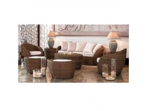 LOTUS Tan Grey Set Καθιστικό κήπου Rattan