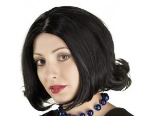 Αποκριάτικη Περούκα Μαύρη
