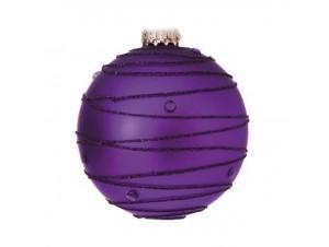 Μωβ Γυάλινη Χριστουγεννιάτικη Μπάλα