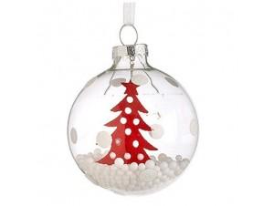 Παιδική Χριστουγεννιάτικη μπάλα γυάλινη