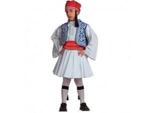 Παιδική Παραδοσιακή Στολή Τσολιάς Μπλε 8-10
