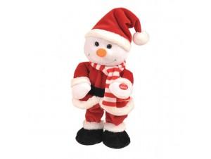 Χριστουγεννιάτικο Λούτρινο Χιονάνθρωπος Καλαντούλης