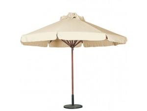 Ομπρέλα Κήπου Ξύλινη Στρογγυλή 2,5m