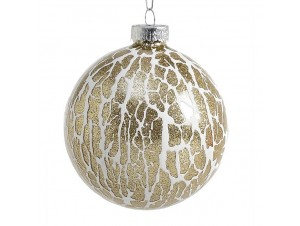 Χριστουγεννιάτικη Μπάλα Γυάλινη 8 εκ