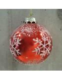 Χριστουγεννιάτικη Γυάλινη Κόκκινη Μπάλα 8 εκ.