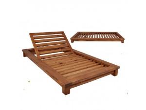 VERANO 2 θέσεων Ξαπλώστρα Κήπου ξύλινη