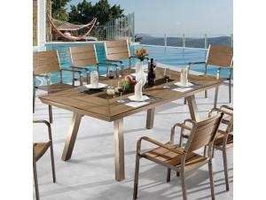 GREENWICH Τραπέζι αλουμινίου - polywood