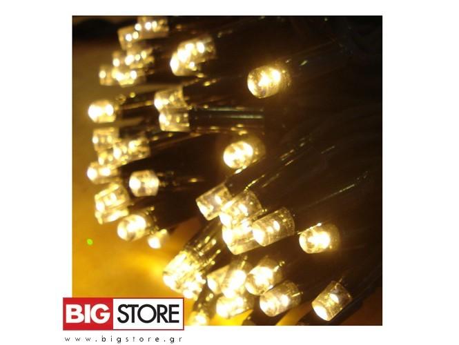 100 LED Λευκά λαμπάκια με θερμό φωτισμό ΠΘ
