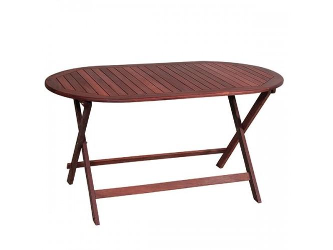 Τραπέζι Κήπου Βεράντας ξύλινο Πτυσσόμενο 923