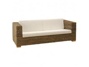 Καναπές με πλέξη από φυσικό Rattan 6041 SB