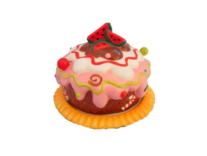 Χριστουγεννιάτικη πιατέλα με καπάκι τούρτα