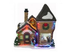 Χριστουγεννιάτικο σπιτάκι φωτιζόμενο 20x11x22 εκ.