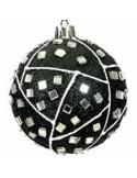 Μαύρη Χριστουγεννιάτικη Άθραυστη Μπάλα