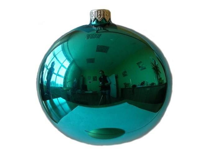 Τυρκουάζ γυάλινη Χριστουγεννιάτικη Μπάλα