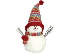 Λούτρινος χιονάνθρωπος με σκούφο