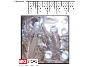 Διάφανη Κουρτίνα 100 LED 3x0.7 m ασύμμετρη επεκτεινόμενη