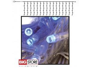 Μπλε Κουρτίνα συμμετρική 200 LED 2x1 m επεκτεινόμενη