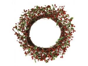 Χριστουγεννιάτικο στεφάνι με γκυ και berries