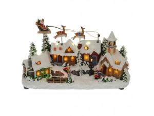 Χριστουγεννιάτικο χωριό φωτιζόμενο 14x8x14 εκ.