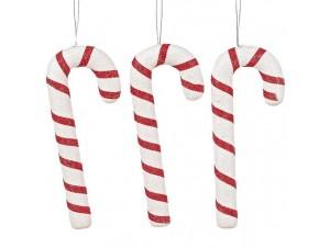 Σετ 3 τεμ. Χριστουγεννιάτικο στολίδι γλυφιτζούρι