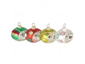 Set Πολύχρωμη Χριστουγεννιάτικη μπάλα