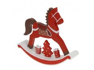Χριστουγεννιάτικο Αλογάκι ξύλινο