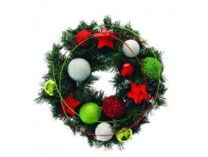 Χριστουγεννιάτικο στεφάνι με μπάλες