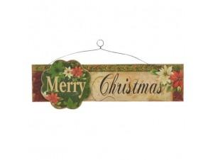 Χριστουγεννιάτικη ξύλινη ταμπέλα