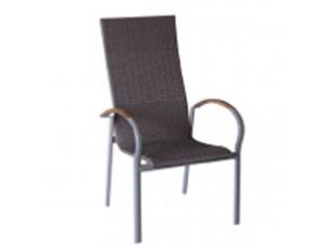 Πολυθρόνα αλουμινίου Wicker LAMDA