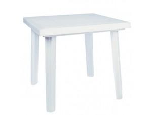 Τραπέζι κήπου Πλαστικό Λευκό 70x 70